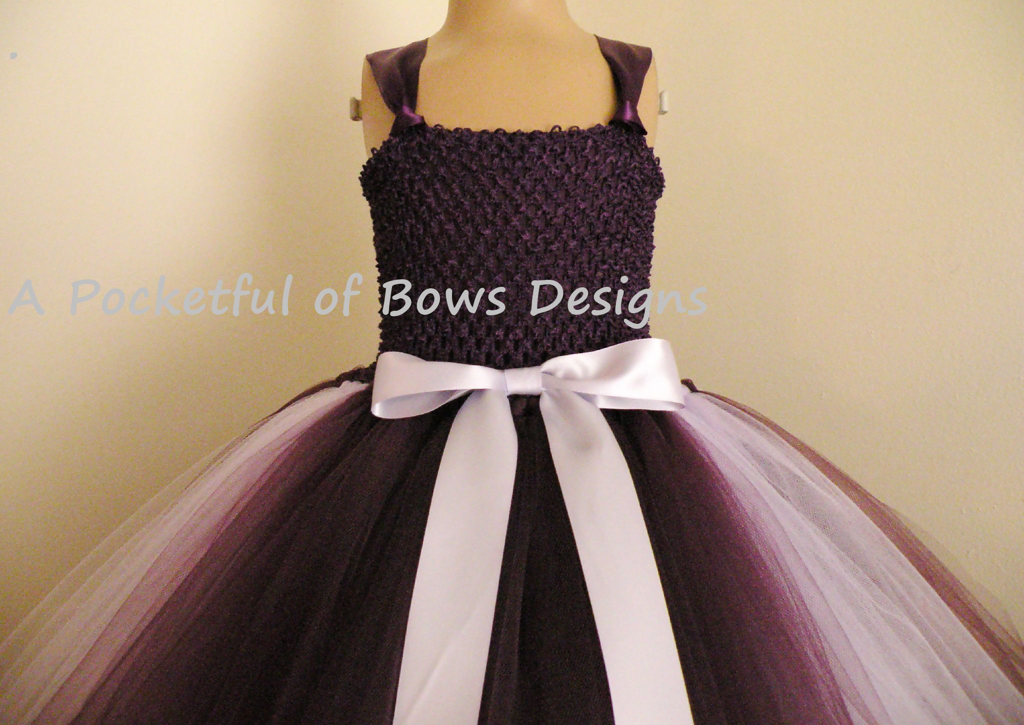 a5e3ab3cc63 Eggplant Plum Flower Girl Dress with Lavender Ball Gown