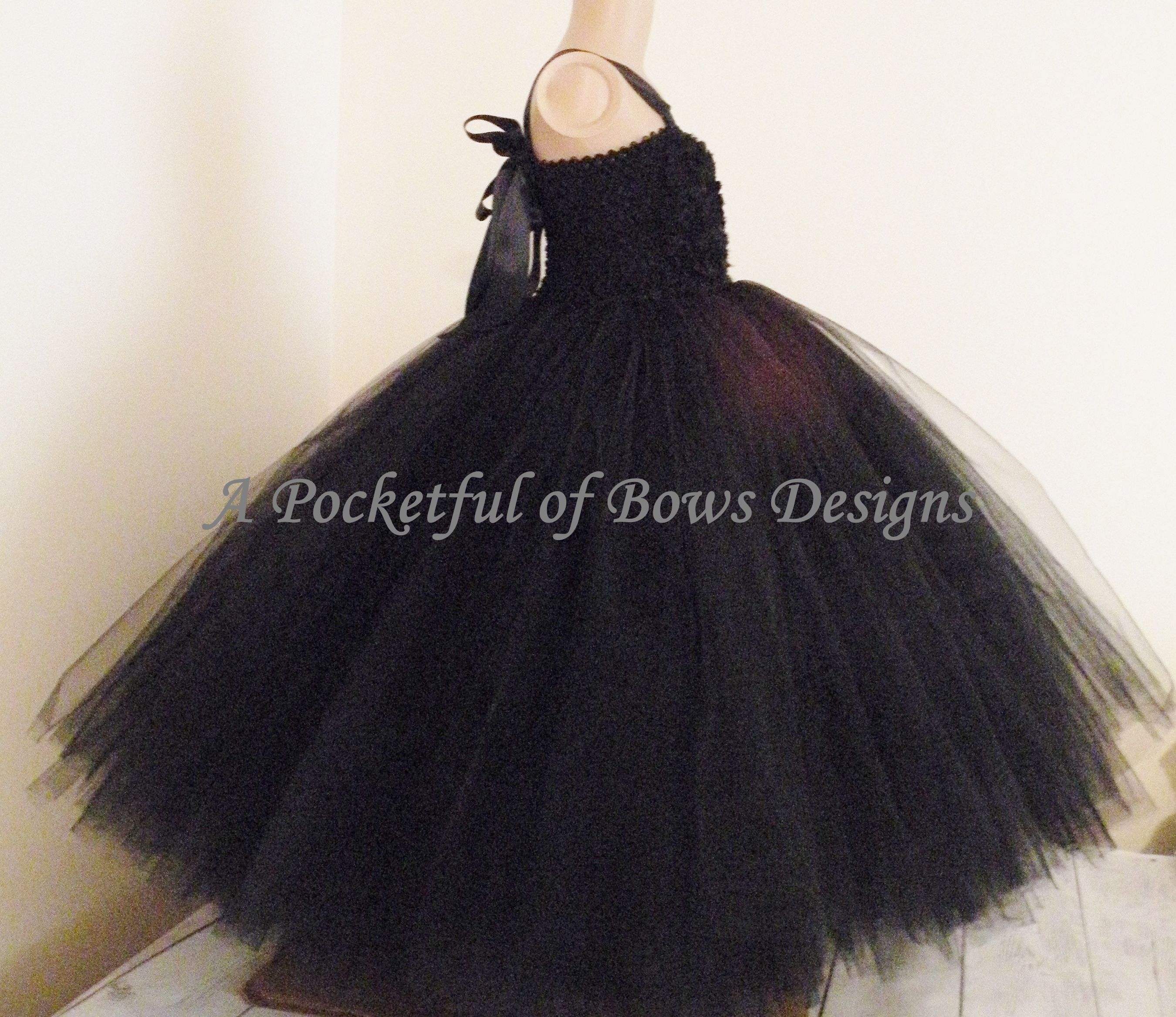 6f3065c14d4 Black Flower Girl Dress with Shabby Flower Top