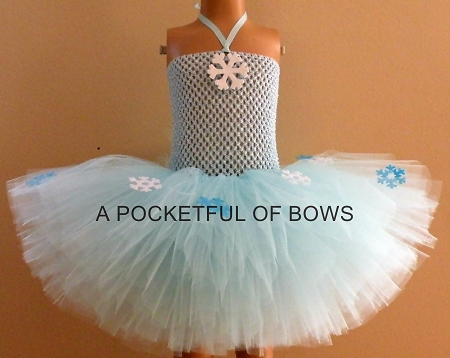 Blue Snowflake Birthday Tutu Dress Toddler