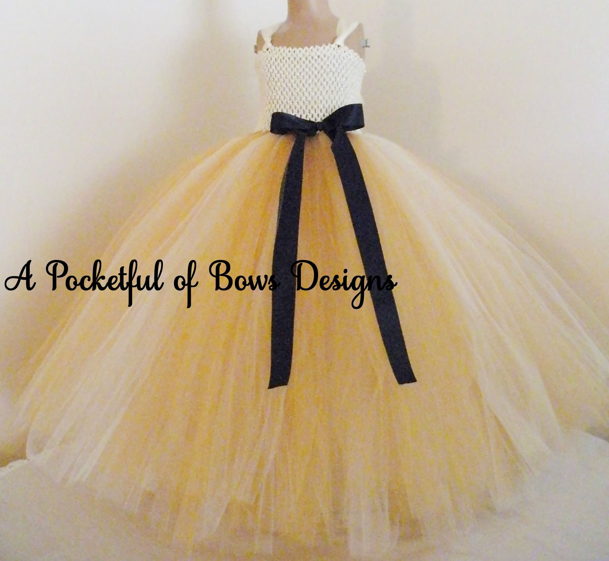 Gold ivory and navy flower girl dress ball gown mightylinksfo