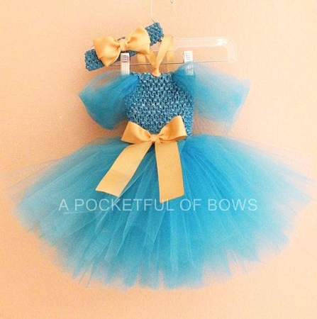 Turquoise Princess Tutu Dress Costume Toddler Birthday
