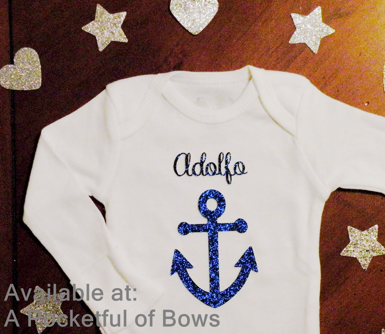 Anchor Baby Body Suit Or Toddler Tee Shirt With Custom Name