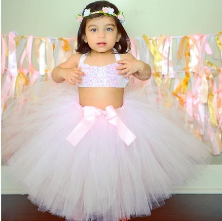 12f212021 Light Pink Blush Toddler Tutu Skirt