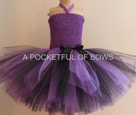 Purple And Black Toddler Birthday Tutu Dress