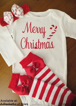 Girls Christmas Outfit with Headband and Leg Warmers