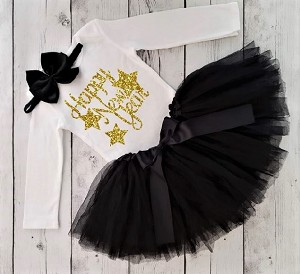 Happy New Years Baby Girls Tutu Outfit