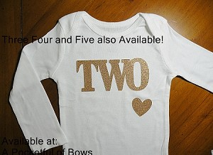 Birthday Body Suits and Toddler Tees in Glitter Colors