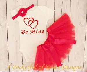 Be Mine Valentines Day Tutu Outfit