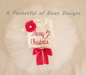 Christmas Tutu Outfit Baby and Toddler Girls