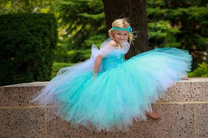 Snowflake Ice Blue Princess Tutu Dress
