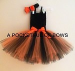 Black and Orange Tutu Dress Toddler