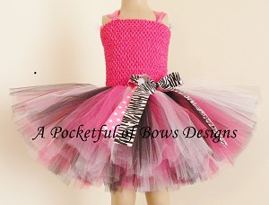 Rock Star Tutu Dress Hot Pink Black and White