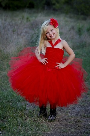 Red Tutu Dress Couture Toddler Formal