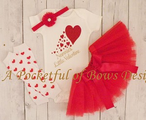 Little Valentine Tutu Outfit with Custom Name