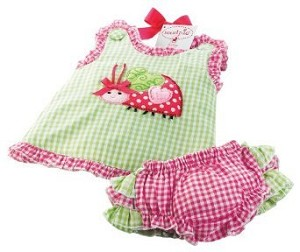 Baby Bloomers and Pinafore Set