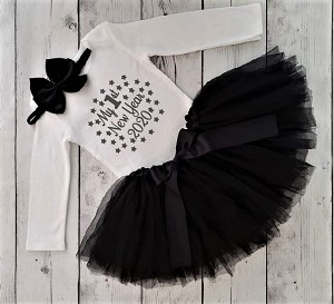 Baby Girls First New Years Outfit 2020