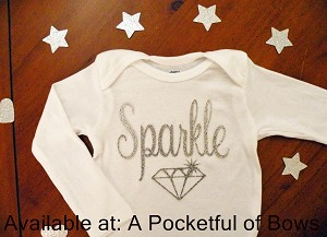 Diva Sparkle Baby Body Suit or Toddler Tee Shirt With Stars