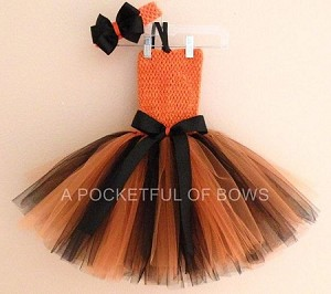Orange and Black Tutu Dress Toddler