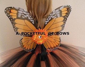 Monarch Butterfly Costume with Wings