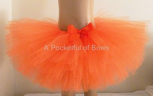 Orange Tutu Skirt Newborn Toddler and Girls Sizes