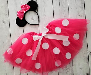 Pink Minnie Tutu Costume with Mouse Eats Headband