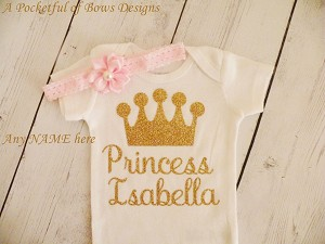 Newborn Coming Home Outfit Toddler Princess Birthday Tee Shirt