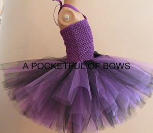 Black and Purple Birthday Tutu Dress for Girls