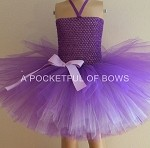 Purple and Lavender Tutu Dress Toddler