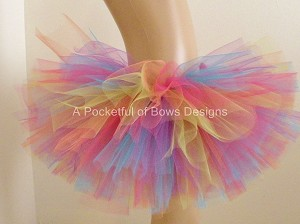 Bright Rainbow Tutu Skirt Toddler and Girls