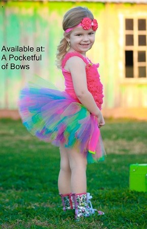 Rainbow Birthday Tutu Skirt for Toddler and Babies