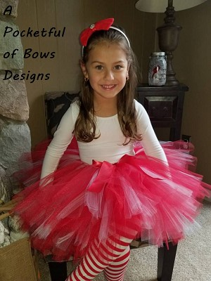 Red and White Tutu Skirt for Toddlers and Babies