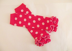 Leg Warmers with Red and White Dots