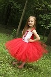 Red Riding Tutu Dress Costume Toddler