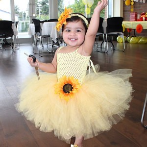 3893249bfa660 My Sunshine Sunflower Tutu Dress with Matching Sunflower Headband