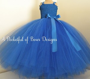 Royal Blue Flower Girl Dress Ball Gown