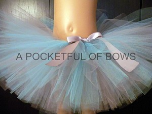 Silver and Light Blue Tutu Skirt for Babies and Toddler Girls