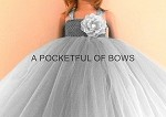 Silver Tulle Flower Girl Tutu Dress with Long Tulle Skirt