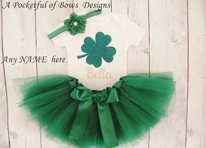 St Patricks Day Baby Girl Outfit Toddler Girl St Patricks