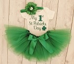 1st St Patrick's Day Baby Girl Tutu Outfit