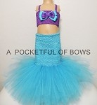 Mermaid Tutu Costume with Tail 2 Piece