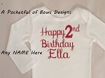 2nd Birthday Girl Body Suit or Toddler Tee Shirt