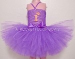 Purple Birthday Dress with Age in Glitter Gold