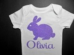 Easter Bunny Baby Outfit, Toddler Girl Easter Shirt