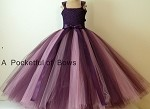 Eggplant and Light Berry Flower Girl Tulle Dress Toddler