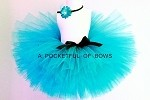 Turquoise Tutu Skirt and Headband Set