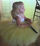 Yellow and White Flower Girl Tutu Dress