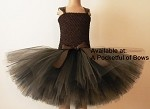 Black and Brown Tutu Dress Couture