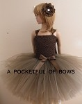 Couture Brown Tutu Dress Toddler