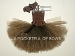 Brown Toddler Tutu Dress