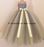 Charcoal Gray Flower Girl Dress